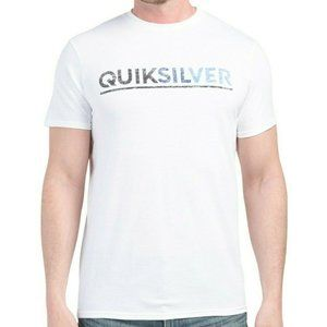 NWT QUIKSILVER MEN'S WHITE CREW NECK T-SHIRT S M L